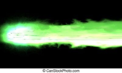 brûler, vert, arme, laser, lancement