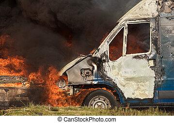 brûler, voiture