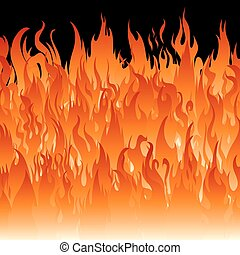 brûler, wallpaper., flammes