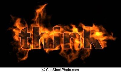 brûler, word., penser