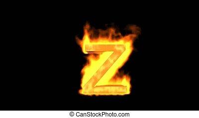 brûler, z., lettre