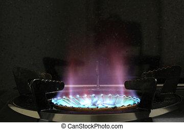 brûleur gaz, poêle