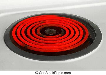 brûleur, rouge chaud