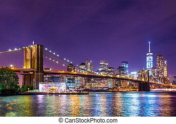 brücke, brooklyn, york, neu , stadt