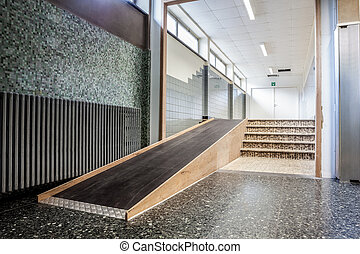 rollstuhl hotel waldland rampe treppengel nder. Black Bedroom Furniture Sets. Home Design Ideas