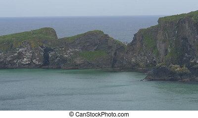 brücke, nördlich , standpunkt, -, seil, version, irland, carrick-a-rede, gebürtig