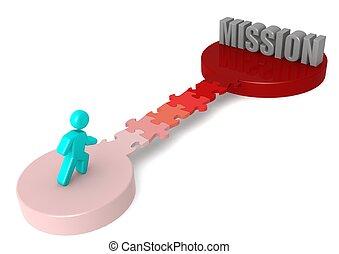 brücke, puzzel, mission