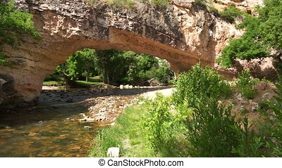 Brücke, Wyoming, natürlich, ayres, Gegenteil, Park,...