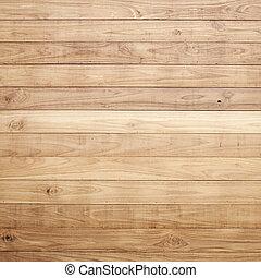 brązowy, ściana, struktura, drewno, tło, deska