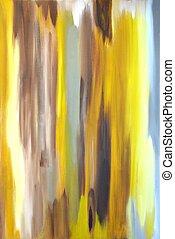 brązowy, abstrakcyjna sztuka, szary, żółty