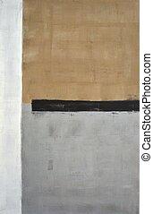 brązowy, abstrakcyjna sztuka, szary