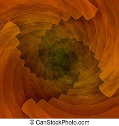 brązowy, abstrakcyjny, spirala, struktura, tło, albo