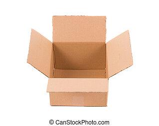 brązowy, box., tektura