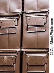 brązowy, kabiny, amunicja