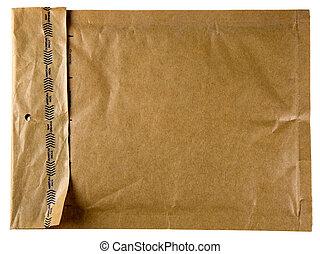 brązowy, koperta