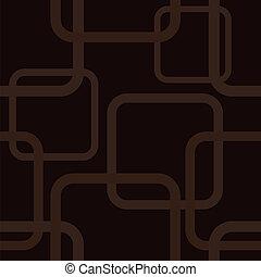 brązowy, kwadraty, seamless, próbka