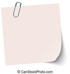 brązowy, mały, papier, lepki
