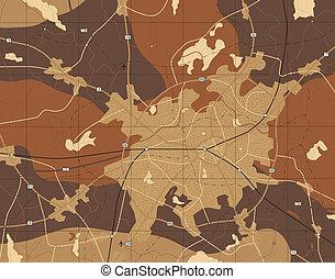 brązowy, mapa