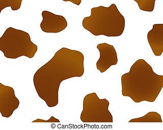 brązowy, projektować, krowa