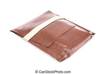 brązowy, skórzana torba