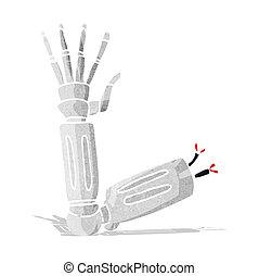 braço robô, caricatura
