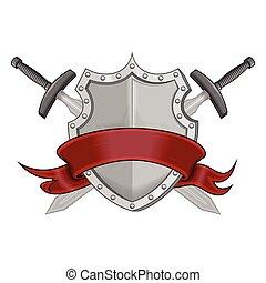 braços, vetorial, desenho, agasalho, fita, vermelho
