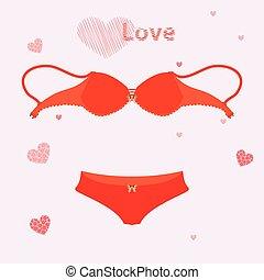 bra for love underwear. illustration