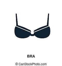 Bra icon. Flat style icon design. UI. Illustration of bra icon. Pictogram isolated on white. Ready to use in web design, apps, software, print.