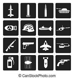 braccia, arma, guerra, icone
