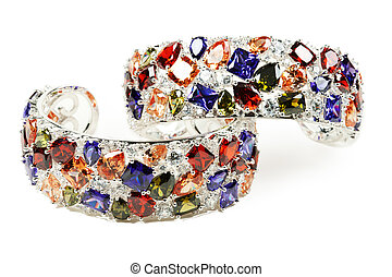 braccialetto, argento, ametista