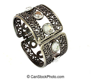 braccialetto, argento, isolato