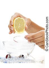 braccialetto, limone, bagno