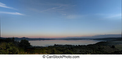 Bracciano lake at the dusk