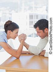braccio, persone, wrestling, affari, competitivo