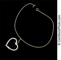 bracelet and heart
