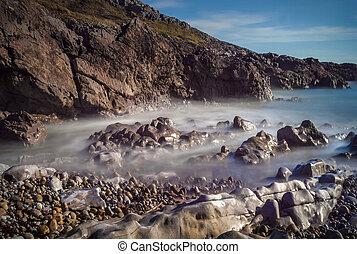 Bracelet Bay coastline travel destination at the Mumbles on the Gower Peninsular West Glamorgan Wales UK