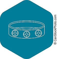Bracelet icon, outline style