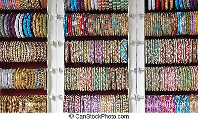 bracelet, jewelery, bracelet, vendre, dans, inde