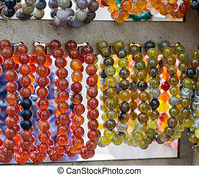 Bracelet of beads of various colors
