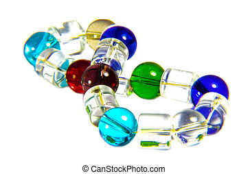 Bracelet of Glass Beads - Different colors of glass beads ...