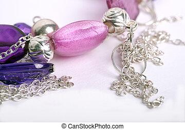Bracelet on a white background