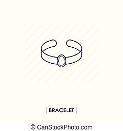 Bracelet outline icon isolated