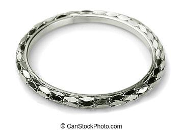 Bracelet - Modern metal bracelet isolated on white