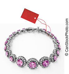 bracelet with price tag - silver and diamonds bracelet with ...