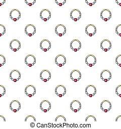 Bracelet with ruby pattern seamless