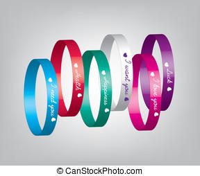 Bracelets color illustration