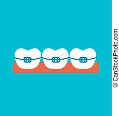 Braces illustration - Braces vector isolated on white...