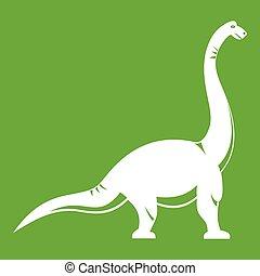 Brachiosaurus dinosaur icon green