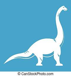 Brachiosaurus dinosaur icon white