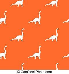 Brachiosaurus dinosaur pattern seamless